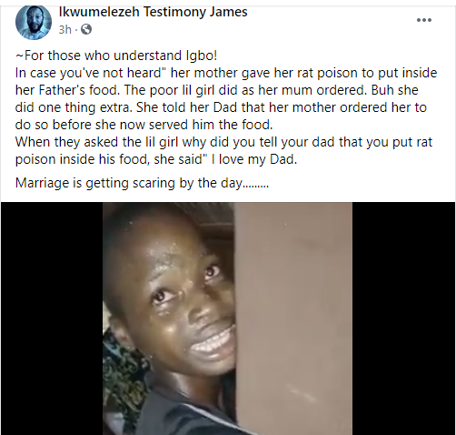 Girl confesses to her Nigerian mother reportedly giving her rat poison to put in her father?s food (video)