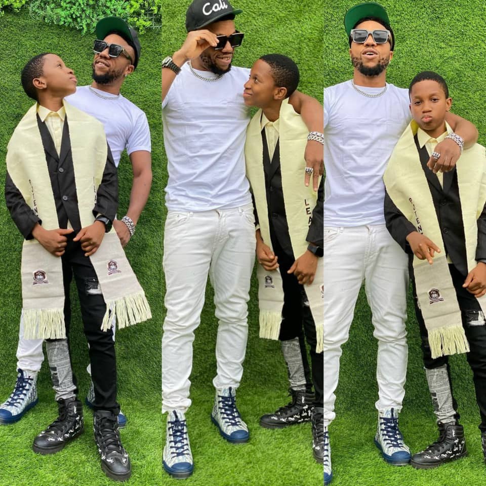 GX GOSSIP: Nigerian Actor, Charles Okocha's stunning photos as son graduates from primary school