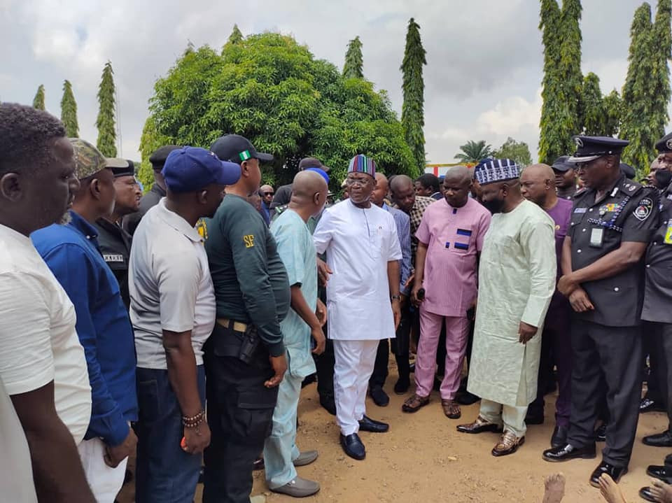 Update: Governor Ortom directs demolition of house used by kidnappers of Benue commissioner