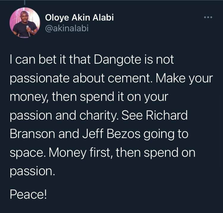 Only lazy people think it is only their passion that will bring in their livelihood ? Akin Alabi