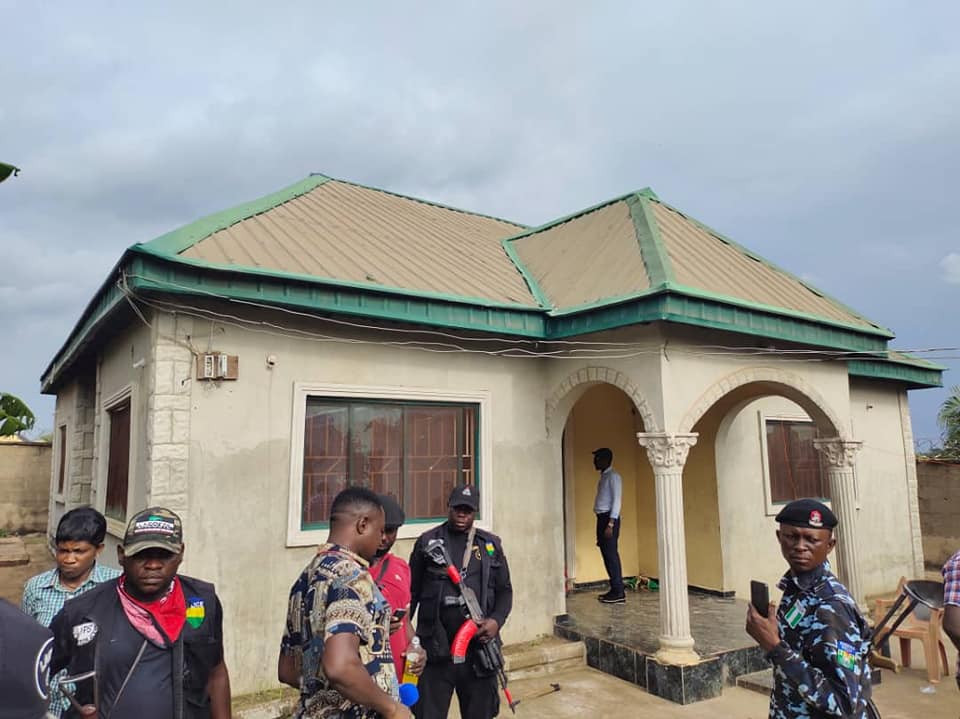 Benue State Government demolishes kidnappers