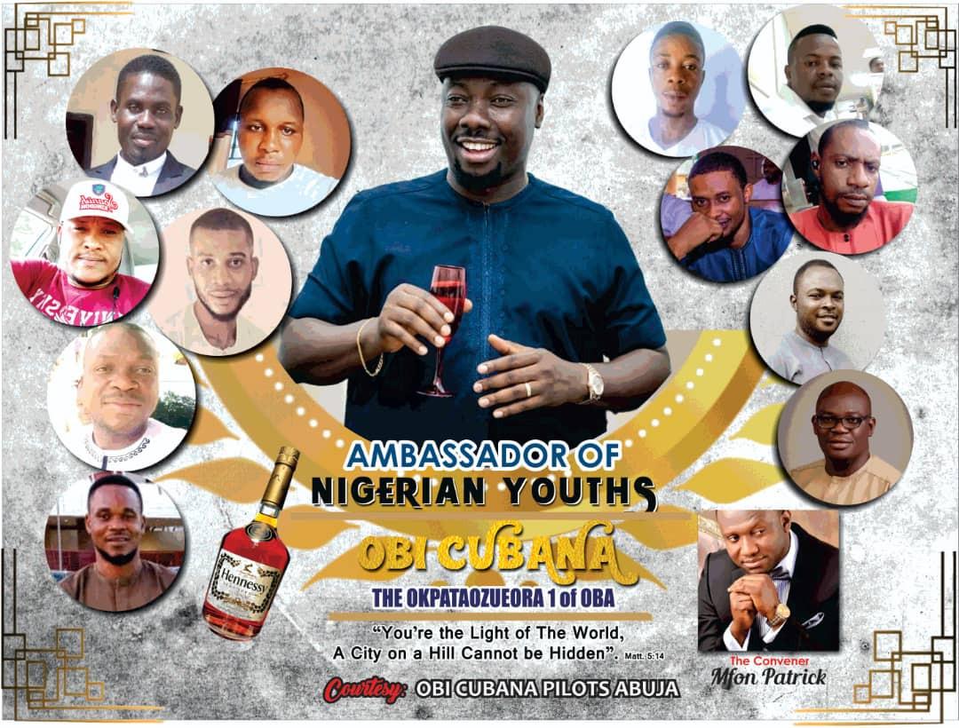 Obi Cubana Crowned Ambassador for Nigerian Youths