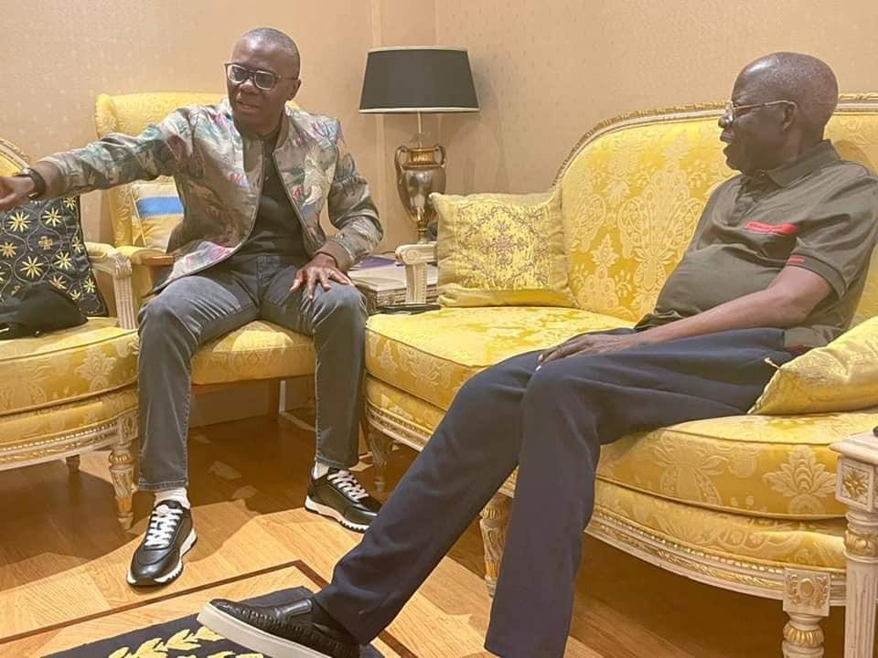 Governor Sanwo-Olu visits Bola Tinubu in the UK (photos)