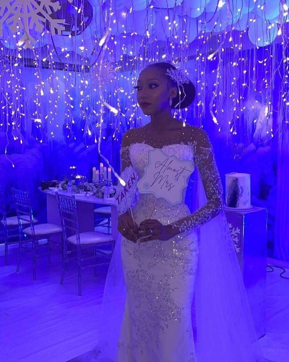 Photos of Zahra Bayero, Yusuf Buhari's fiancée, at her bridal shower