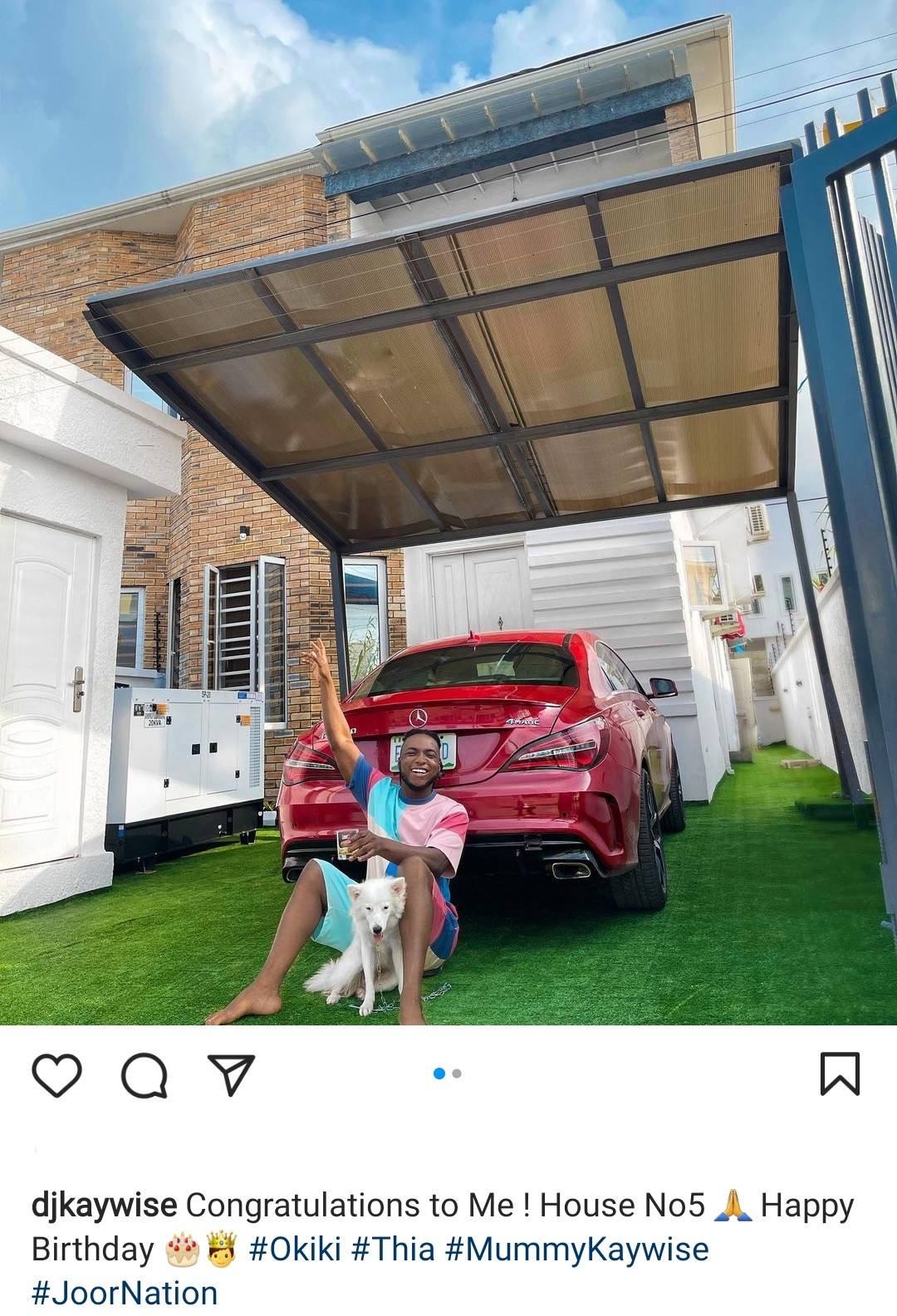 """""""House No 5"""" DJ Kaywise writes as he shows off new house to mark his birthday"""