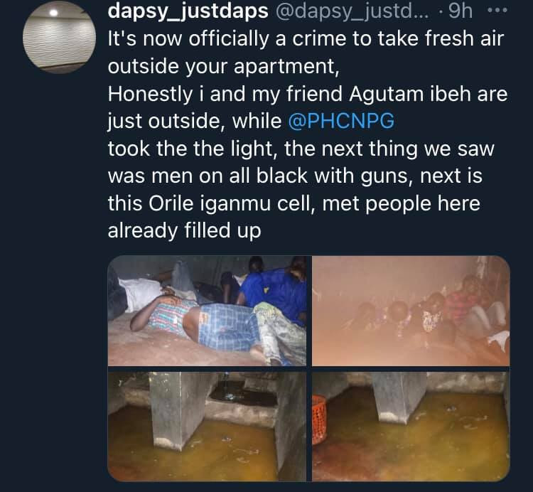 Nigerian man shares photos of state of Orile police cell after allegedly being arrested while taking