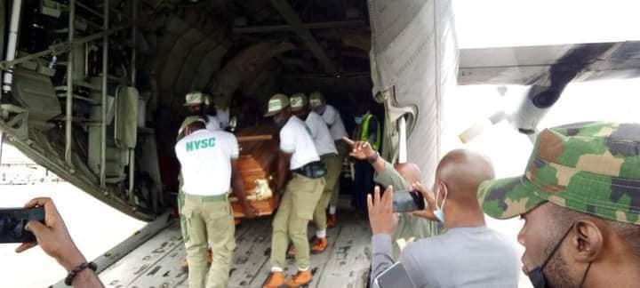 Bodies of five UNIUYO graduates killed in auto crash while on their way to NYSC orientation camp, flown to Akwa Ibom for burial (photos)