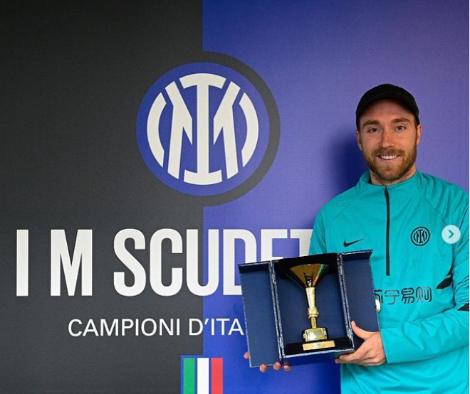 Christian Eriksen returns to Inter Milan for the first time since cardiac arrest at Euro 2020 (photos)