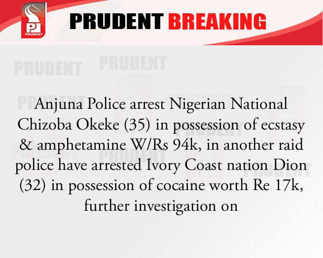 Nigerian national arrested with drugs worth over N500,000 in India