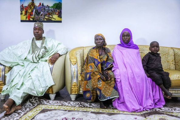 Abducted Chibok schoolgirl returns home and reunites with her family (photos)