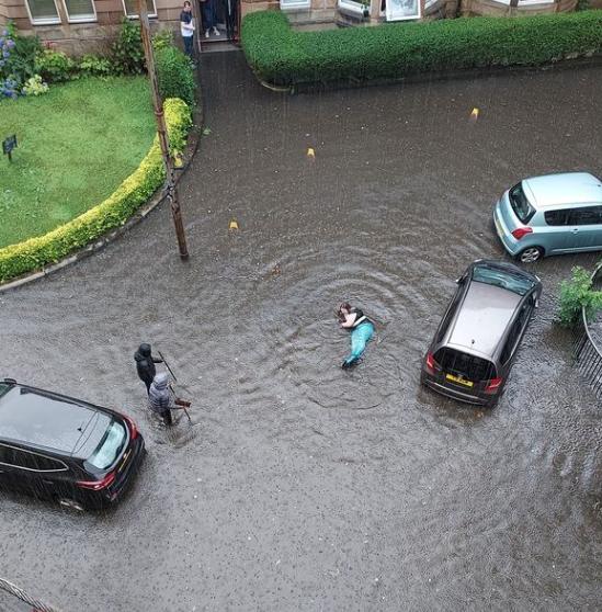Brits battling floods spot