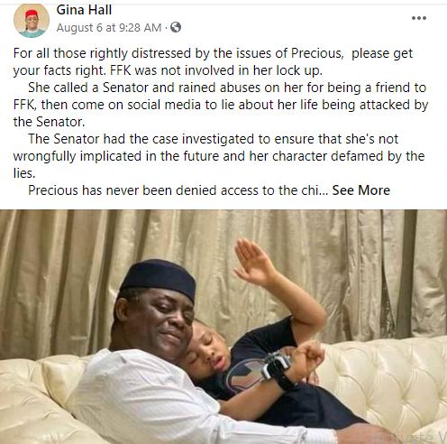 FFK was not involved in Precious Chikwendu