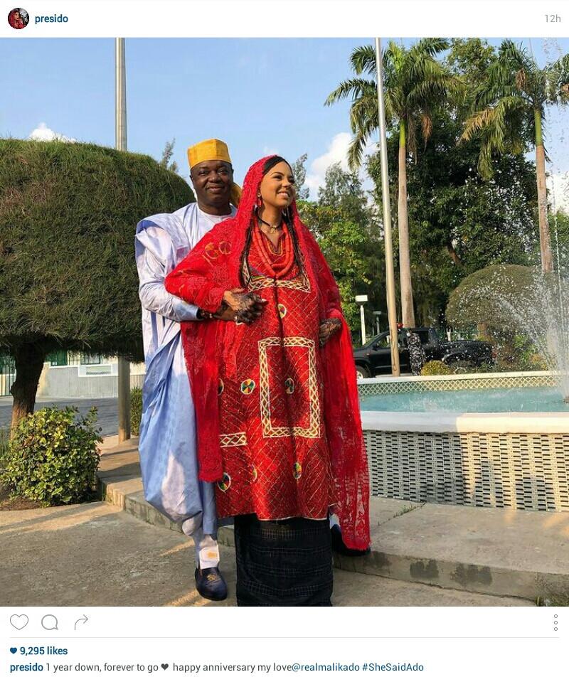 Billionaire daughter, Adama Indimi gets SUV from husband, Prince Malik Ado-Ibrahim on first wedding anniversary