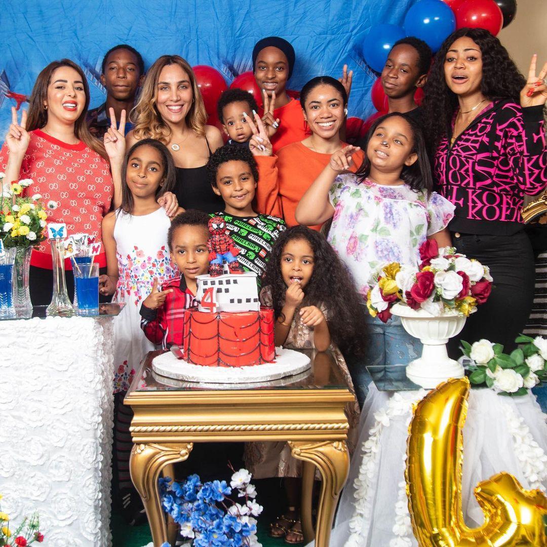 Billionaire businessman, Ned Nwoko, and wife Laila, throw their son a birthday party (photos)
