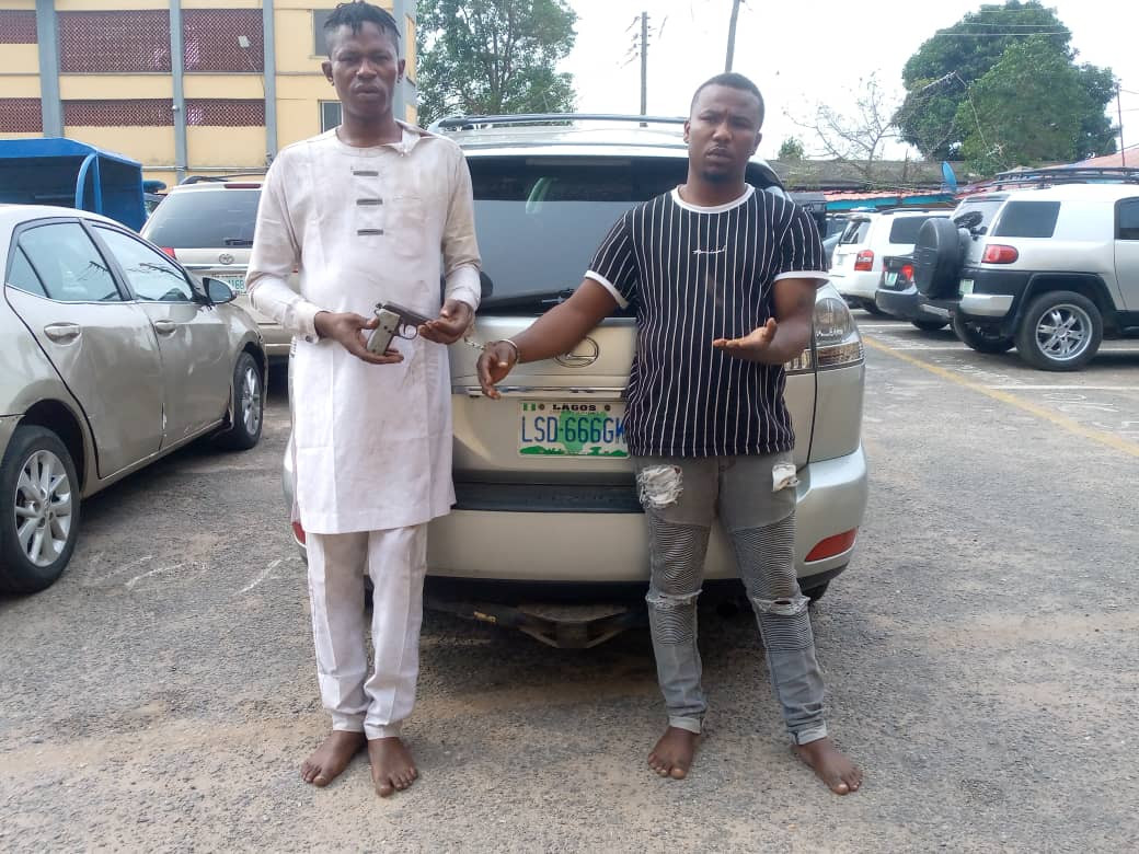 Two suspected armed robbers nabbed in Lagos, four ATM cards recovered from them