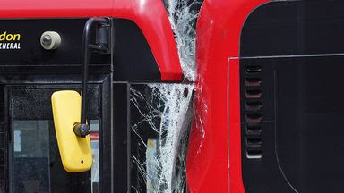 Two buses crash at London Bus station killing 1, injuring two