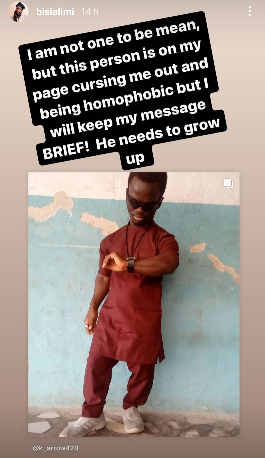 Bisi Alimi slams short-statured man who shamed him for his sexuality