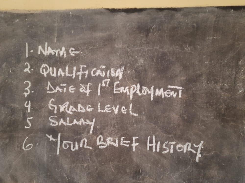Borno state governor, Babagana Zulum, holds impromptu test for teachers (photos)