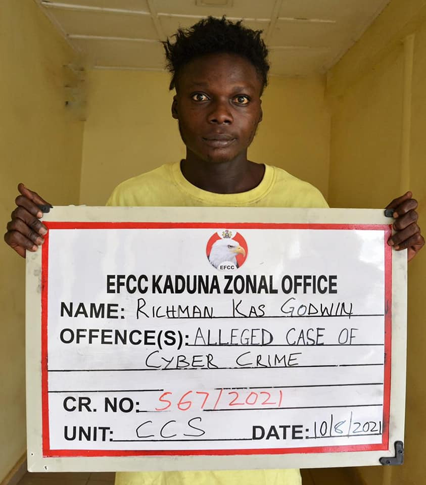 Mother and son arrested for internet fraud in Kaduna