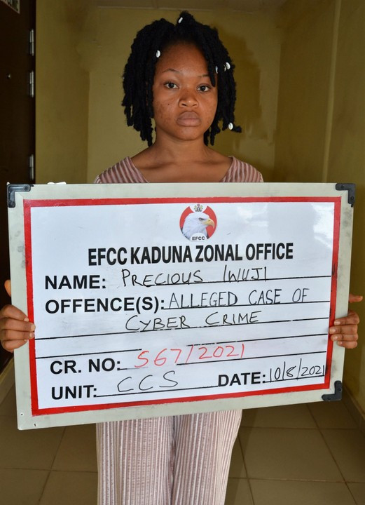 Lady arrested for allegedly selling her photos and Facebook account to fraudsters