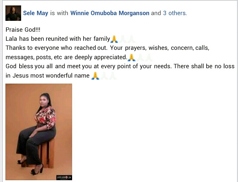 Update: 17-year-old student found two weeks after she went missing in Port Harcourt