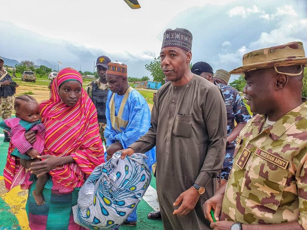 Nigerian Army hands over another Chibok schoolgirl to Governor Zulum (photos)