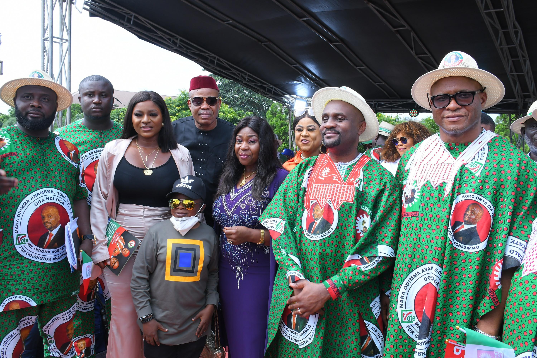 Nollywood Actors, Chinwetalu Agu, Destiny Etiko, Chinyere Wilfred, honour Oga Ndi Oga... Promises to make Anambra state a hub for film makers