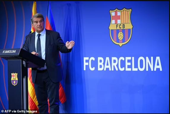 Barcelona President Joan Laporta reveals the club