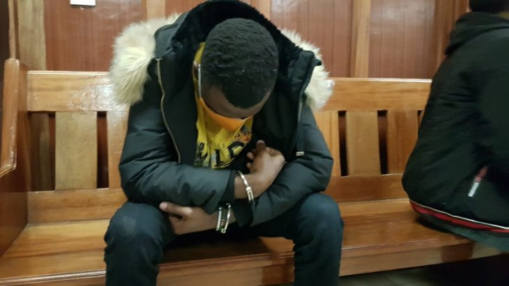 Nigerian man arraigned in court for allegedly forcing his Kenyan girlfriend to perform oral sex on him at knifepoint and posting the video online