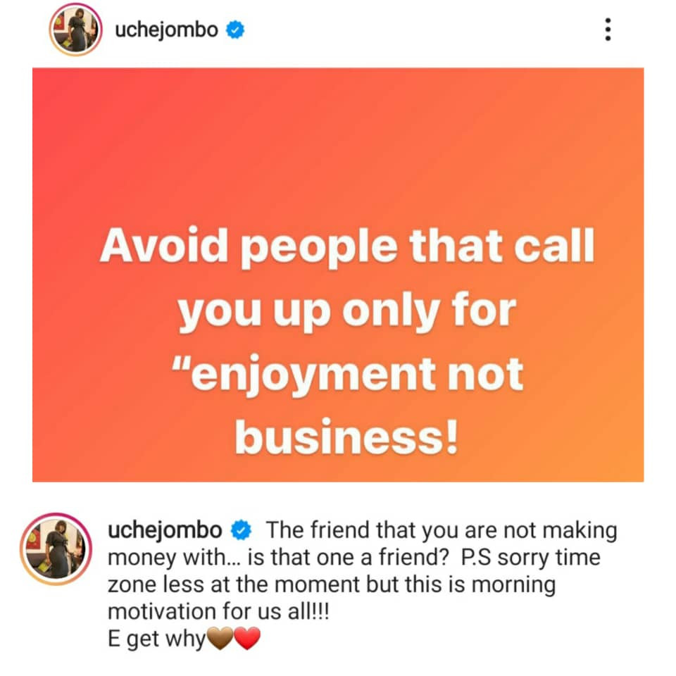 Avoid people that call you up only for enjoyment not business - Actress, Uche Jombo