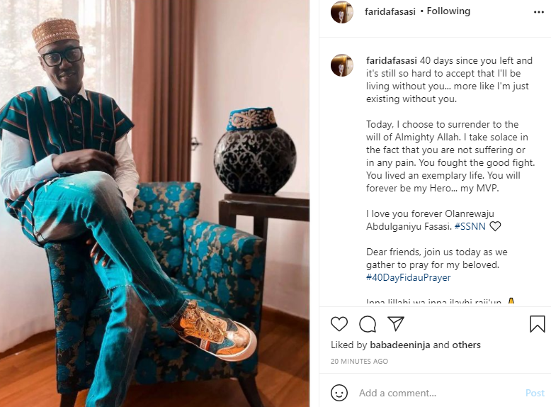 It?s still so hard to accept that I?ll be living without you - Sound Sultan?s wife pens down tribute to him 40 days after his demise