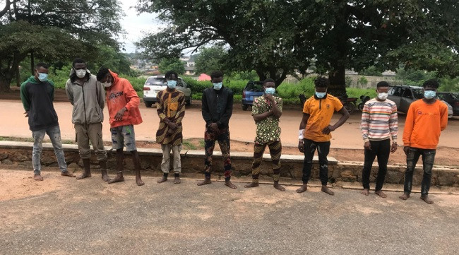 Nine suspected cultists arrested during handover ceremony in Oyo