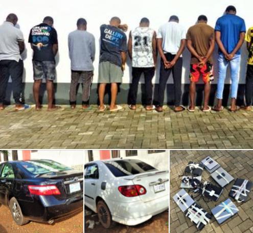 EFCC arrests 14 suspected internet fraudsters in Enugu (photos)
