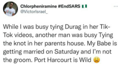"""God go puni*sh Port Harcourt women"