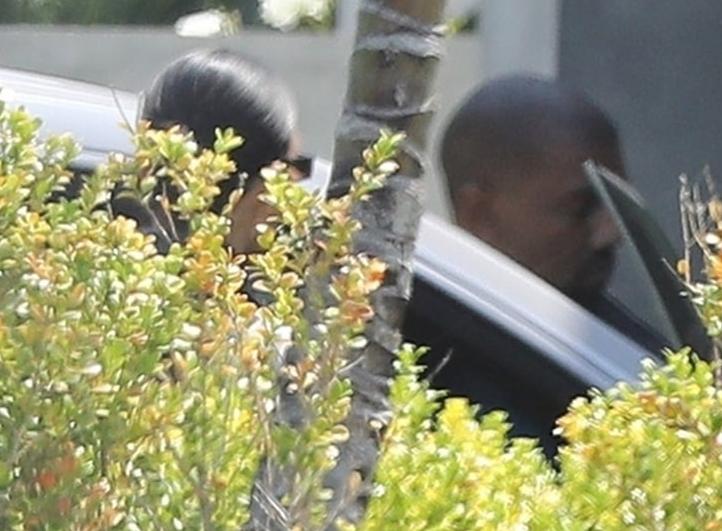 Kim Kardashian and Kanye West have lunch in Malibu