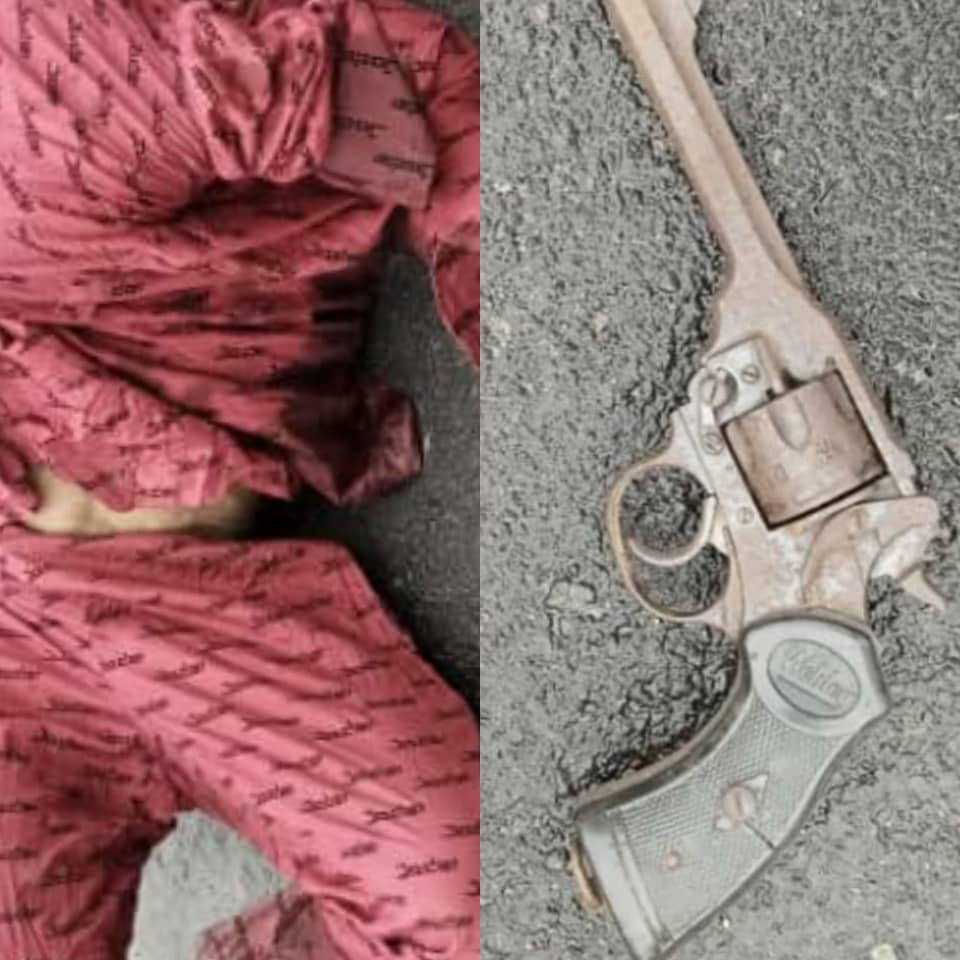 Notorious armed robber shot dead in Imo, police revolver pistol recovered (photos)