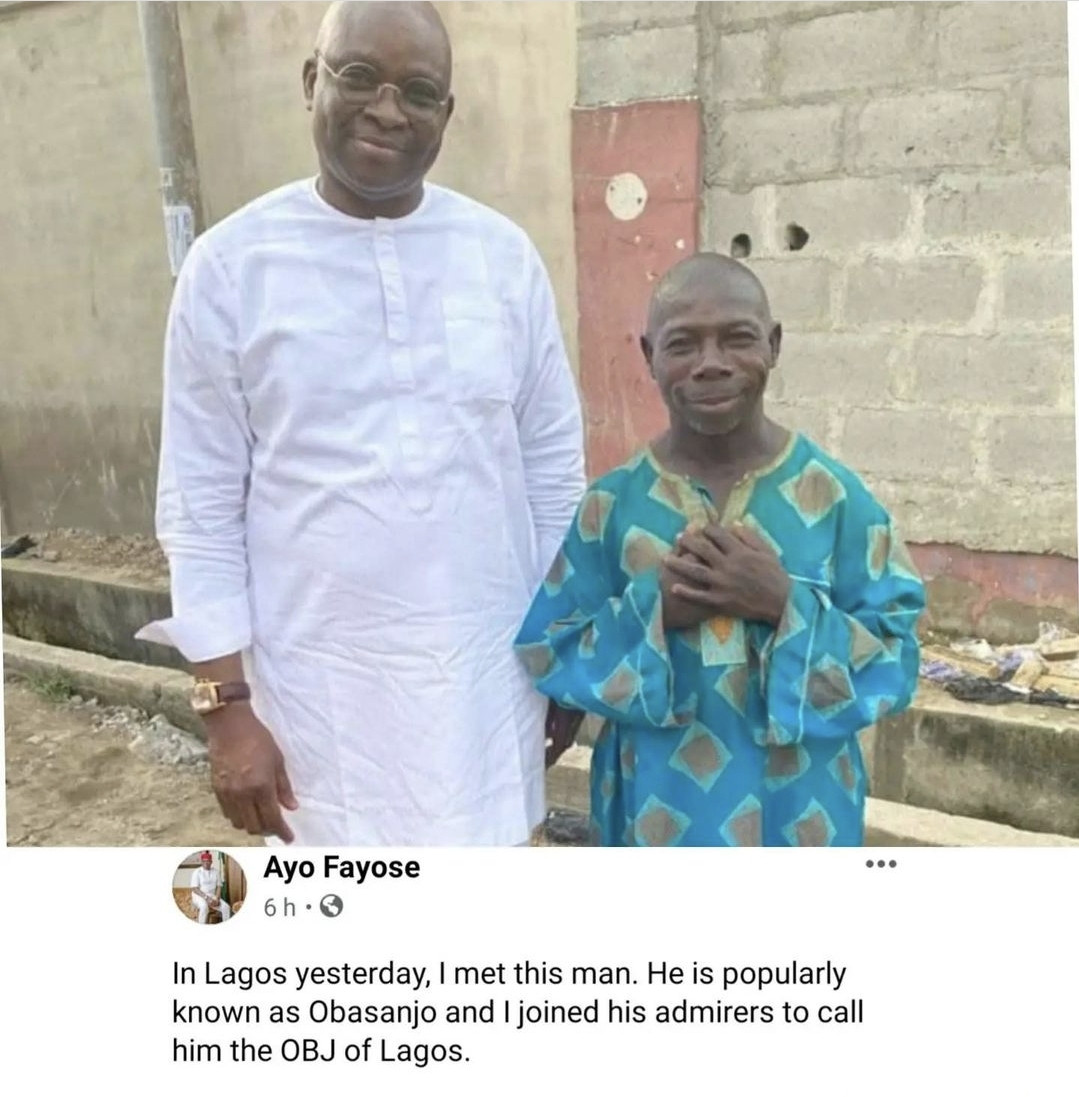 Ex-governor, Ayo Fayose shares interesting photo of man who many refer to as