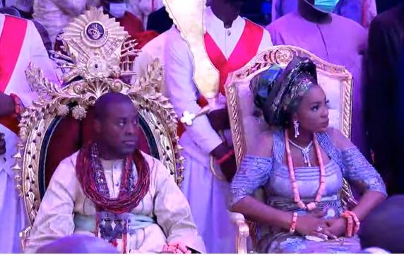 Obasanjo, Okowa, Ibori, others attend thanksgiving service of Olu of Warri (photos)