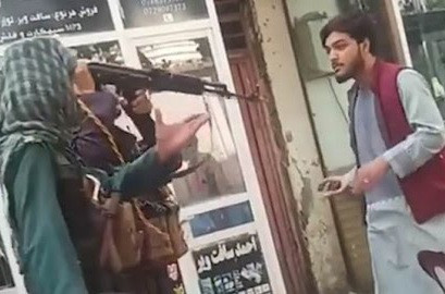 Taliban beat Kabul man with rifle for playing music on his phone (video)