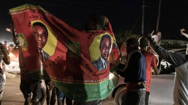 Hakainde Hichilema sworn in as President of Zambia four years after he was imprisoned by the incumbent he defeated