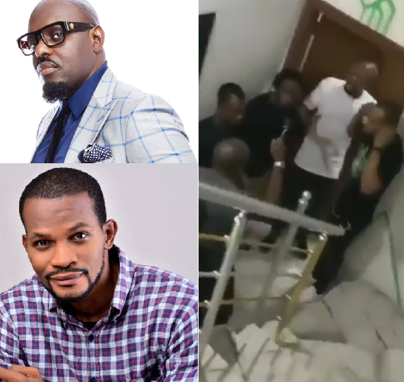 Jim Iyke goes after Uche Maduagwu and attacks him days after the latter questioned his source of wealth on Instagram (video)
