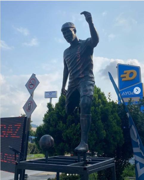 Nigerian footballer, Anthony Nwakaeme?s statue erected In Turkey (photos)