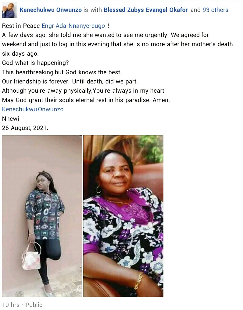 Nigerian woman dies six days after her mother