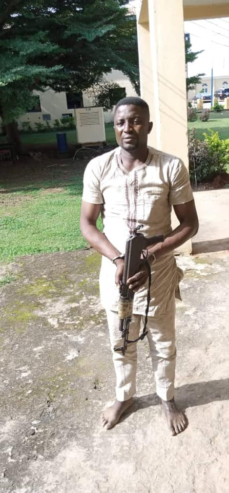 Police arrest suspected armed robber, cultist, recover AK-47 gun with 9 live ammunition in Delta