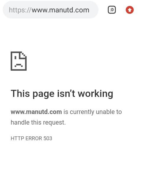 Man Utd website crashes after they announce Cristiano Ronaldo signing (photo)