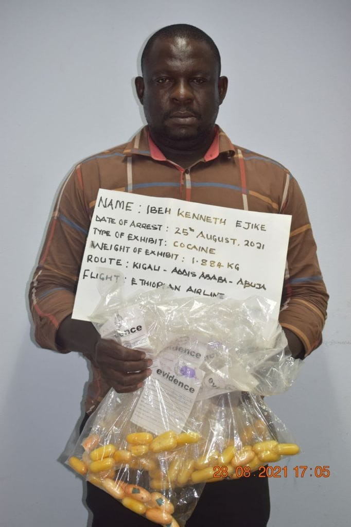 Drug kingpin excretes 87 pellets of cocaine at Abuja airport