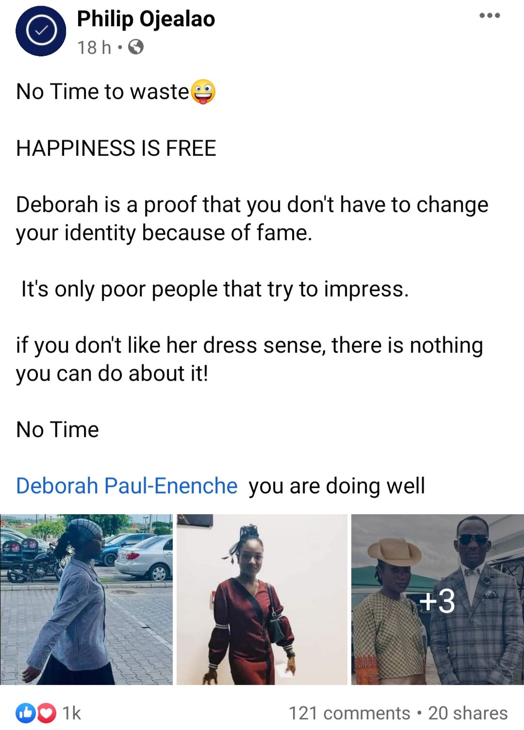 Daughter of Pastor Paul Enenche trends on Facebook because of her fashion sense
