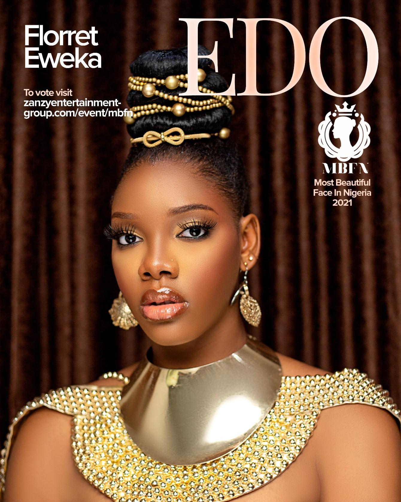 Florret Eweka Wins Most Beautiful Face in Nigeria 2021