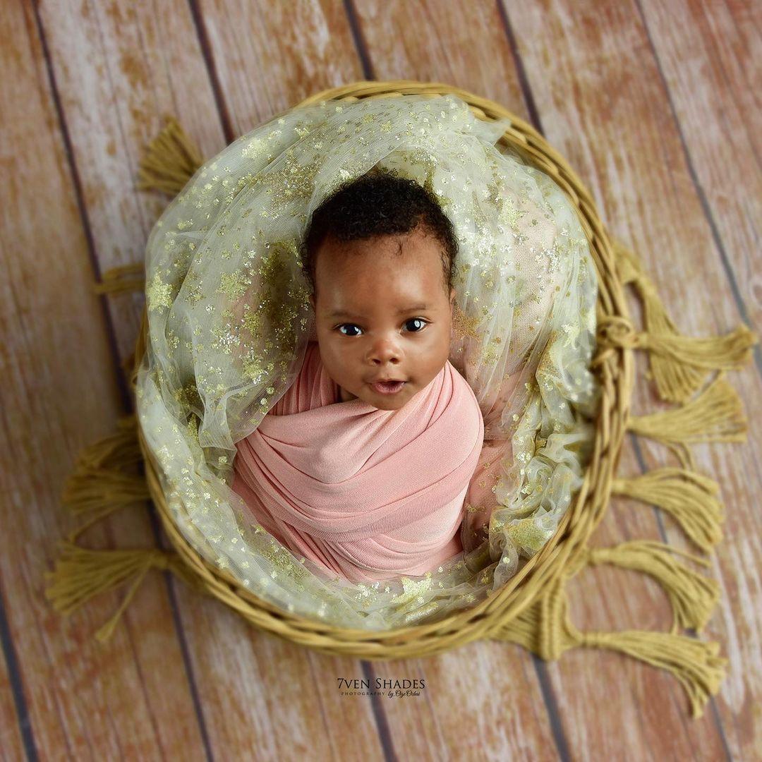 Actor Gideon Okeke shares first photos of his second son (photos)