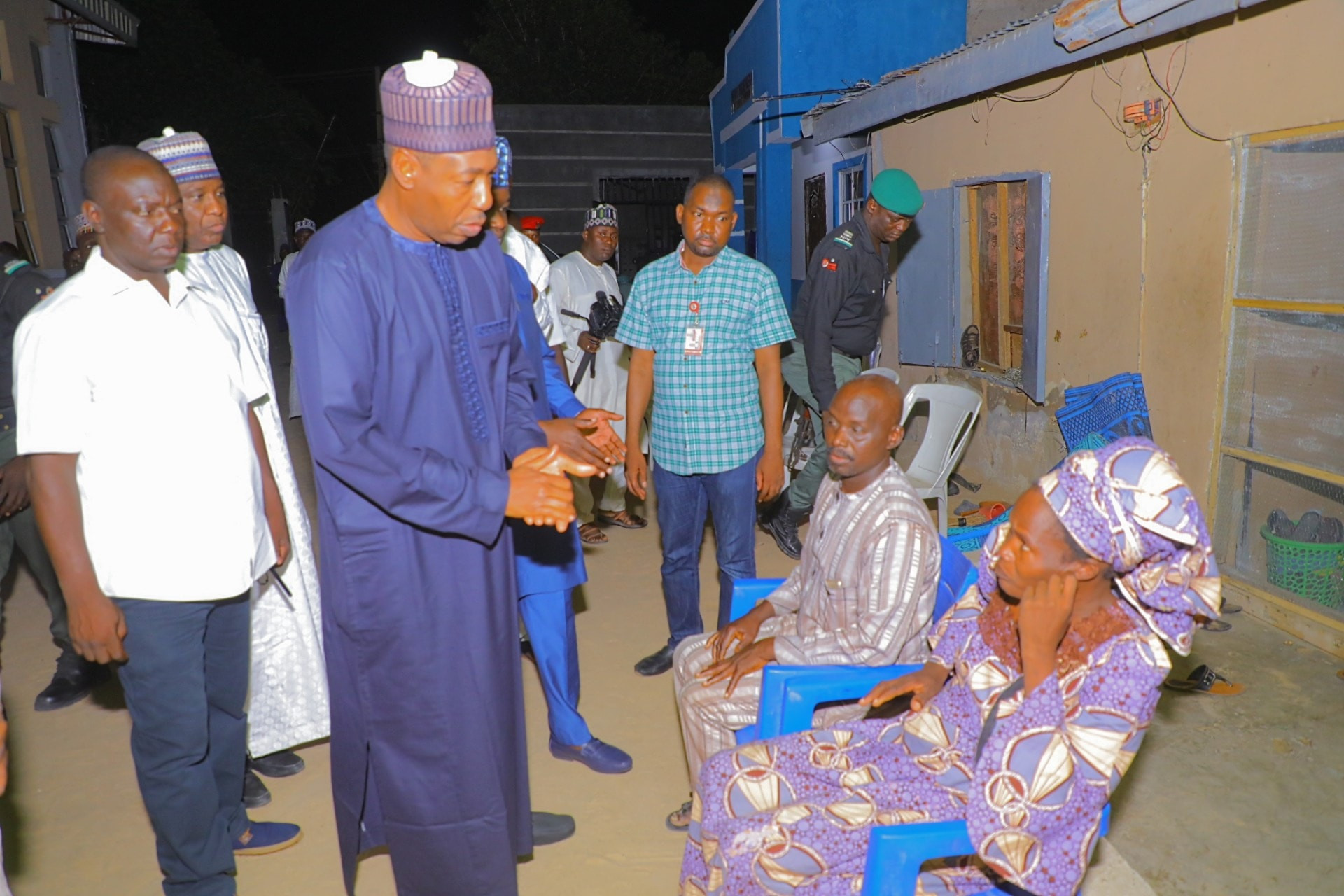 Maiduguri Church Violence: Governor Zulum visits pastor whose son was killed, says shooter is in police net